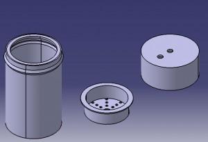 Dampffilterboden, Dampffilterdeckel, Dampffilter Eishalter